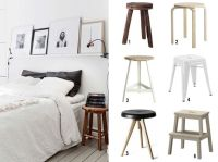 Stool Bedside Table | Apartment Therapy | Pinterest