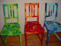 hand painted funky chairs | auction ideas | Pinterest