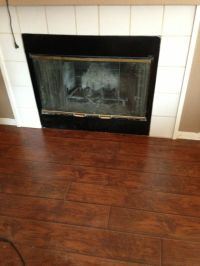 Tile out, flooring in Front of fireplace | For the Home ...