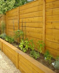Fence with Custom Planter Box | Yard | Pinterest
