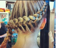inside outside french braid | Nice hair styles | Pinterest