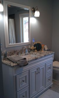 Gray and blue bathroom   Bathroom Design   Pinterest