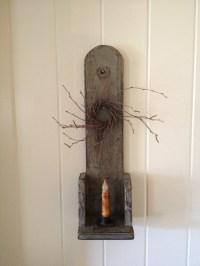 Primitive candle sconce. | Prims | Pinterest