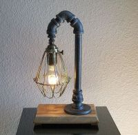 Industrial Desk Table Lamp with Black Iron Pipe and ...