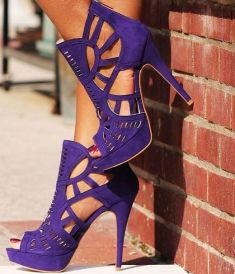 amazing purple heels at Heels.com
