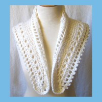 White Knit Lace Wedding Shawl Victorian Fichu Capelet ...