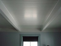 Faux Ceiling Beams and beadboard | DIY | Pinterest