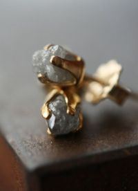 Raw Diamond Studs   wear   Pinterest