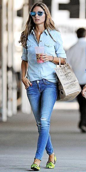 Olivia Palermo - Double Denim. www.salsastore.com #salsajeans #lifeisbetterindenim #celeb