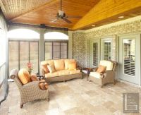 travertine tile screen porch