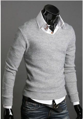 High Quality Casual Sweater Men Pullovers 2014 Brand Spring Autumn Knitting long sleeve V neck Knitwear Sweaters Plus size XXL-in Pullovers ... Great! Also at http://everythingforguys.co.uk