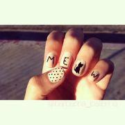 cat nail design girls friend