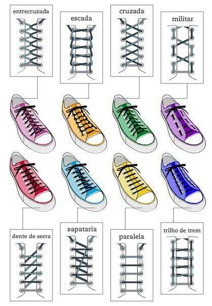 Creative ways to tie your shoelaces