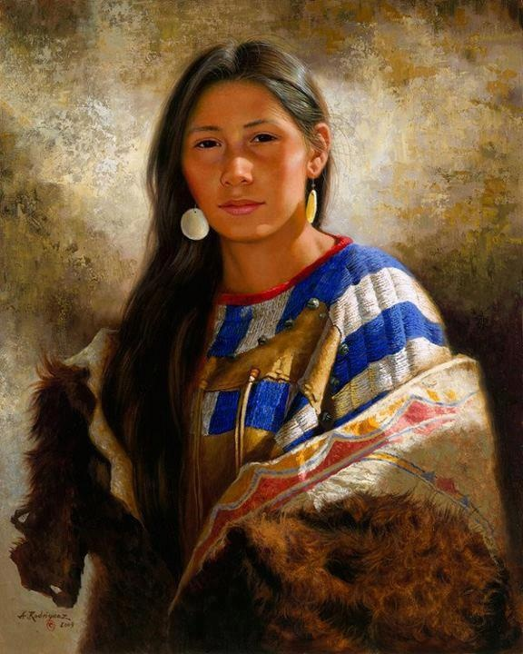 Female American Indians And Turkey