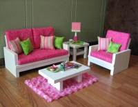 """18"""" Doll Furniture - American Girl sized Living Room ..."""
