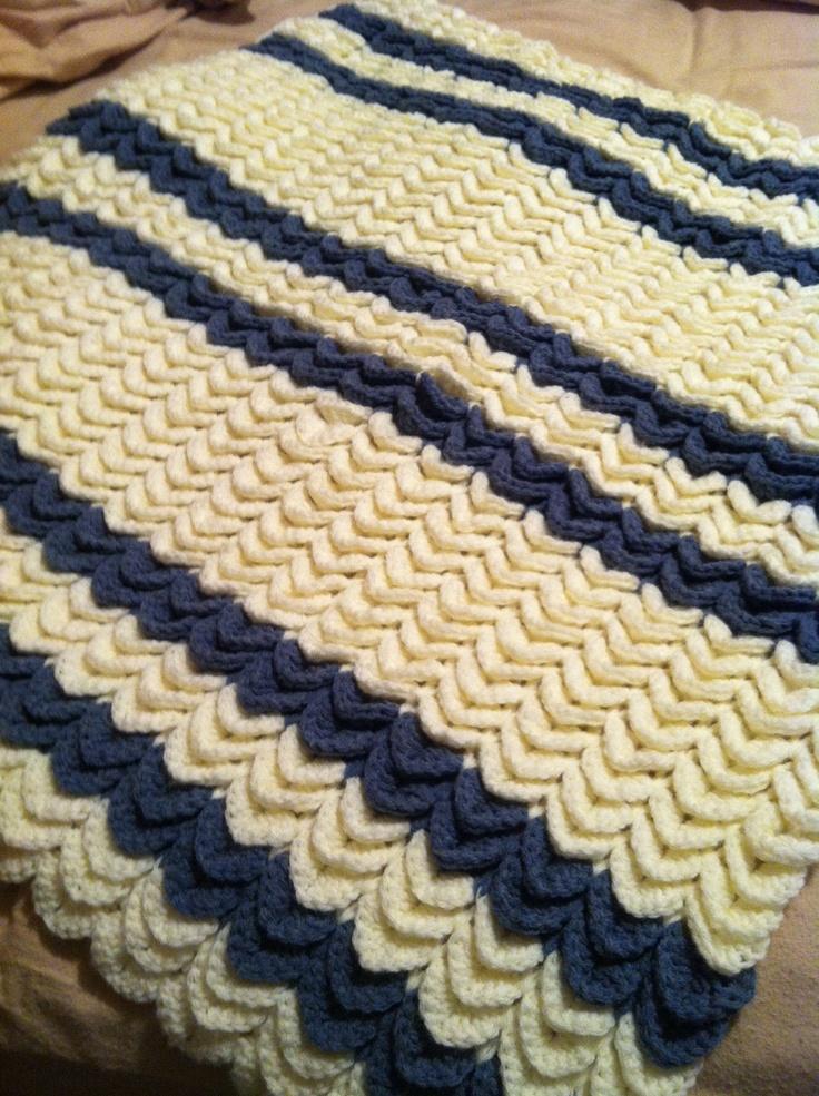 Free Crochet Crocodile Baby Blanket Pattern ~ Dancox for