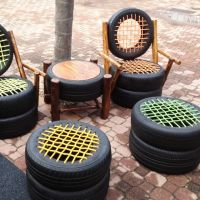 tire-chairs. | Tire recycling | Pinterest