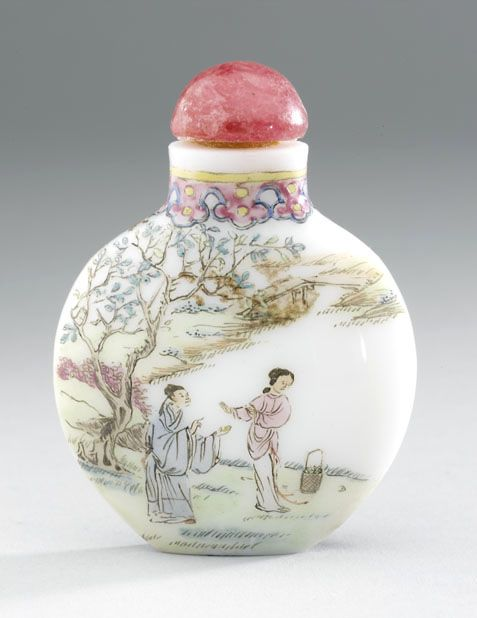 Glass snuff bottle 19th century AD Qing Dynasty China; Asia