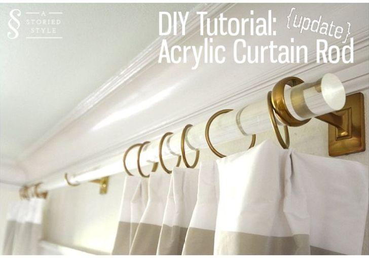 Acrylic Curtain Rod