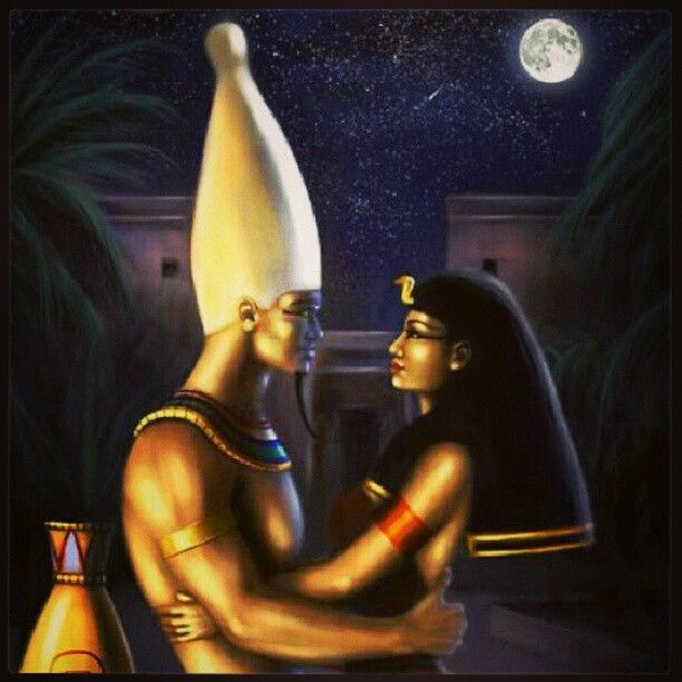 Black King And Queen Egyptian Art