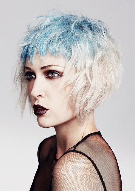 Glorious blue pastel hair