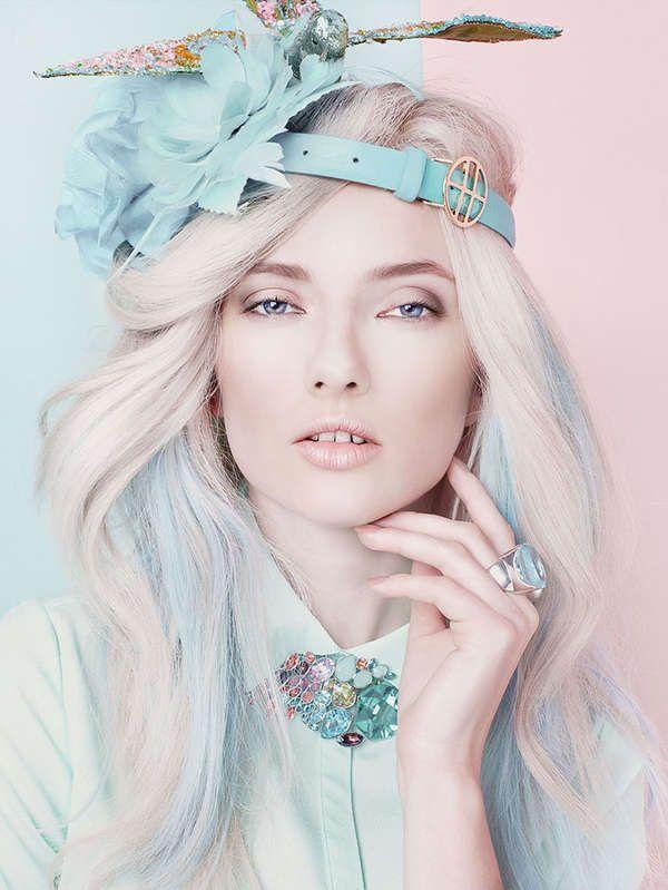 Technicolored Cosmetic Captures - The Akwarele Beauty Story Highlights Kaleidoscopic Makeup Looks (GALLERY)