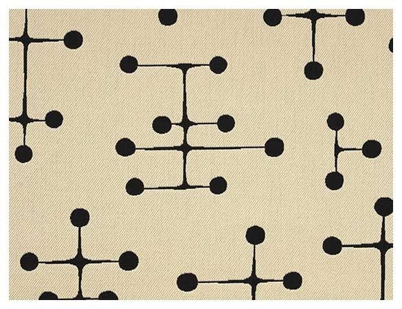 Evoking little antennas from old timey black and white TV's, Charles and Ray Eames created this timeless mid-century pattern in 1947.