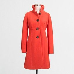 Factory ruffle-collar dress coat