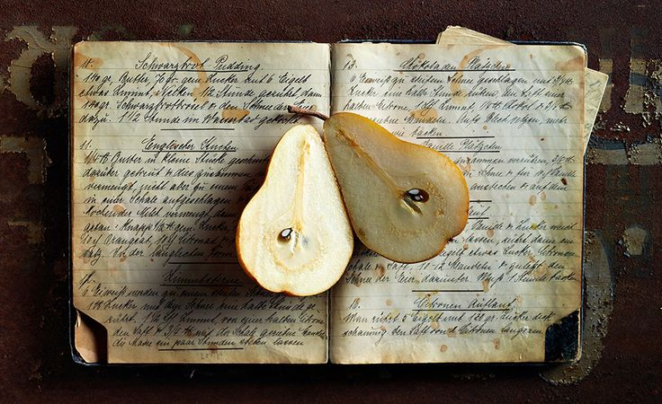 cookbook and pears