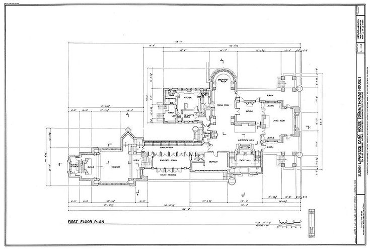 Frank Lloyd Wright floor plan