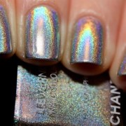 metallic rainbow happy nails