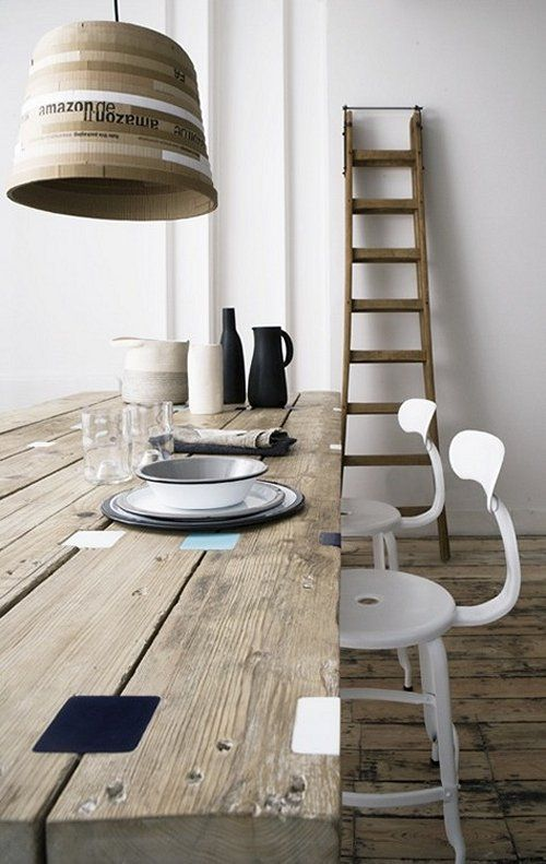 Vosgesparis Interior of Folklore in London Reclaimed wooden table and ladder