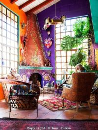 Orange and Purple room | Elgan Ave | Pinterest