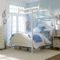 Girls Canopy Bed Teen Staging | Girls Canopy Bed | Pinterest