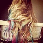 rainbow hair & highlights #prettycolors