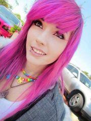 emo girl pink hair emos