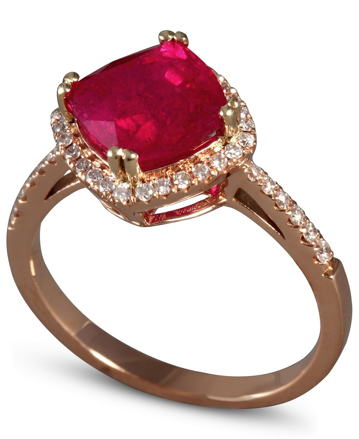 Rose Gold Ring: Effy Collection 14k Rose Gold Ring Ruby