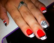 hot harley davidson nail design