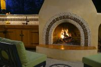 mexican style fireplace | home ideas | Pinterest