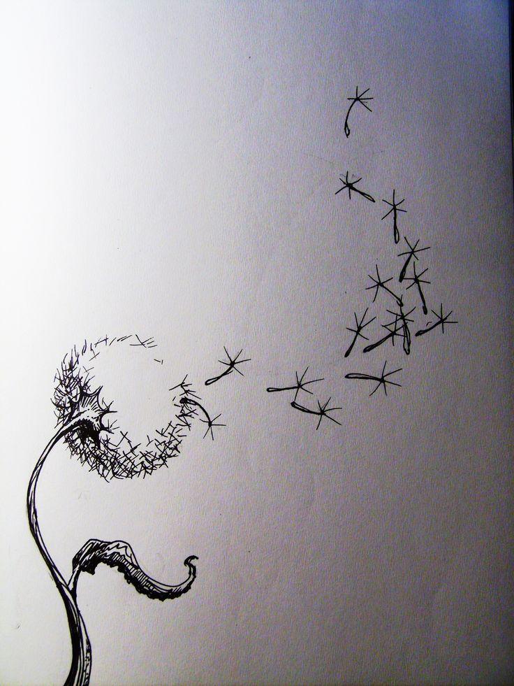 Girl Blowing Dandelion Tattoo  Drawing Inspiration