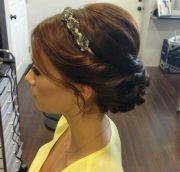 headband & updo. cute hair ideas