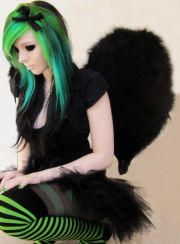 rainbow hair emo girl nude - sex