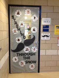 Winter classroom door decoration | School | Pinterest