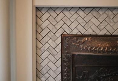 Ideas About Herringbone Fireplace On Pinterest
