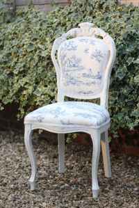 Shabby chic dining table and 4 king Louis chairs