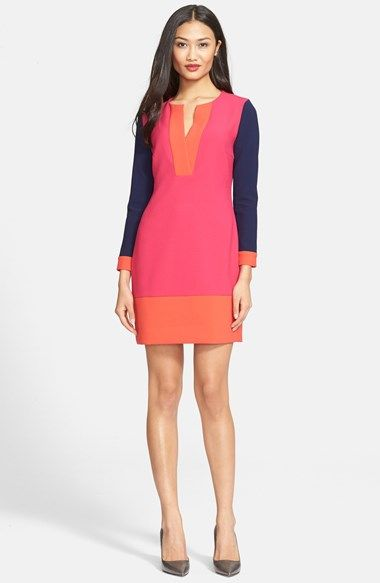 Diane von Furstenberg 'Millie' Colorblock Sheath Dress