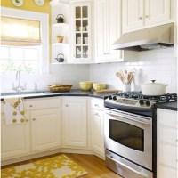 Yellow walls & white cabinets | kitchen ideas | Pinterest