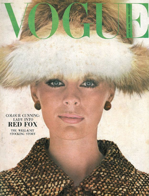 Vogue August 1964 COVER: HELMUT NEWTON MODEL: Pauline Stone