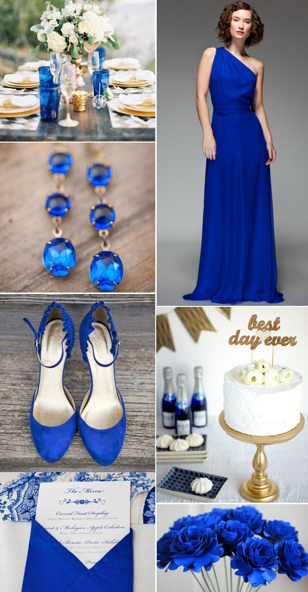 wedding color in dazzling blue
