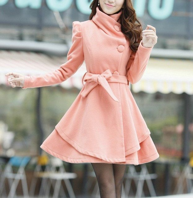 Beautiful Pea Coat! pink